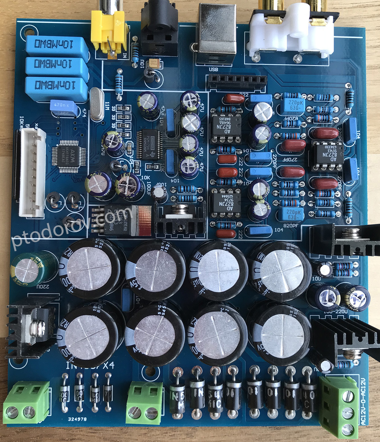 Chinese PCM1794 AK4118 board