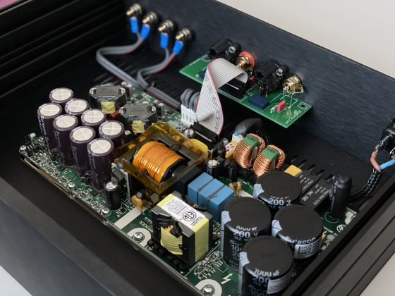 DIY Hypex NC502MP amplifier inside