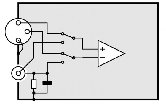 SE/balanced input selector